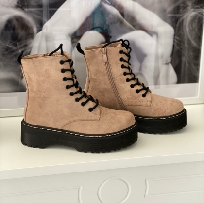 Plateau Boots beige